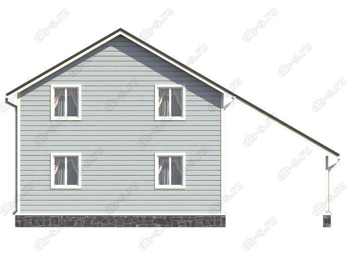 Проект каркасного дома площадью 112кв.м.
