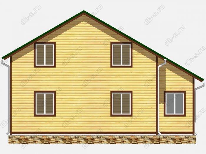 Проект дома из бруса площадью 150кв.м.