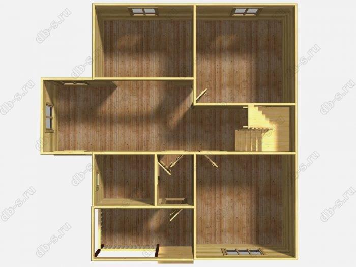 Проект дома для постоянного проживания 8 на 10