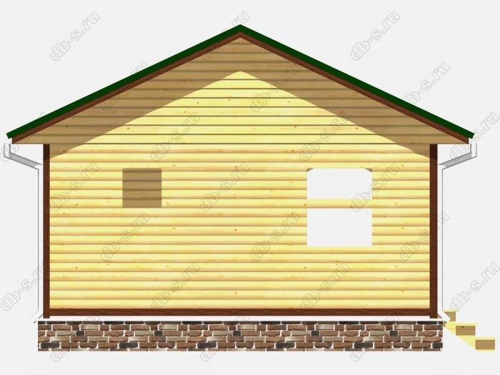 Проект сруба дома площадью 36кв.м.