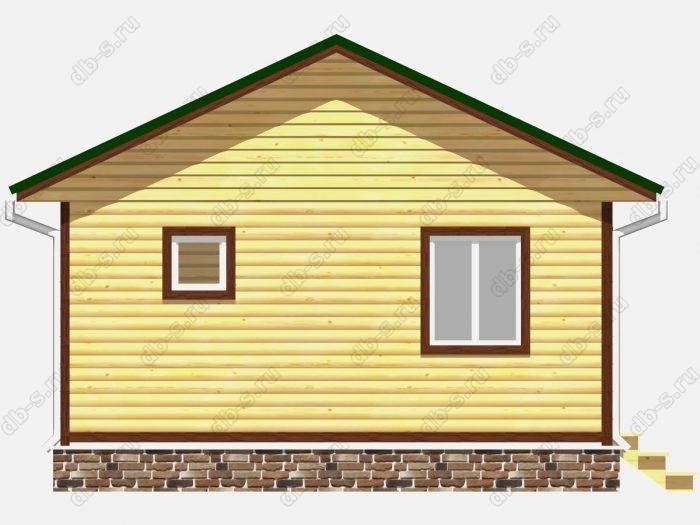 Проект дома из бруса площадью 36кв.м.