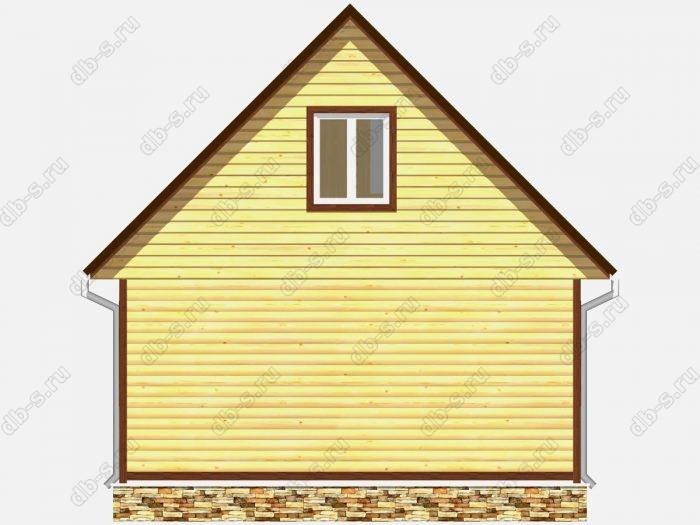 Проект дома из бруса площадью 45кв.м.