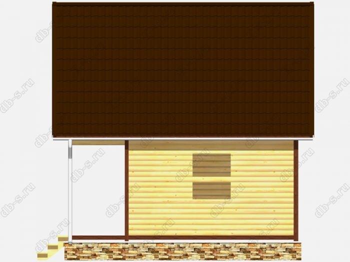 Сруб дома 6х6 терраса (веранда) балкон двухскатная крыша