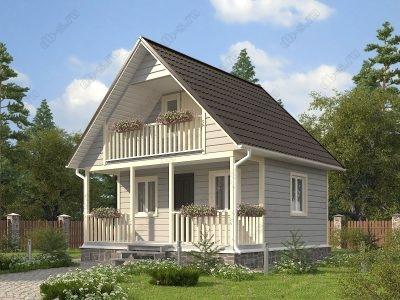 Каркасный дом 6х6 проект К5