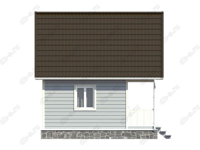 Каркасный дом 6х6 терраса (веранда) балкон двухскатная крыша