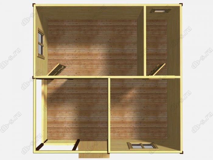 Одноэтажный деревянный дом под ключ 6 на 6