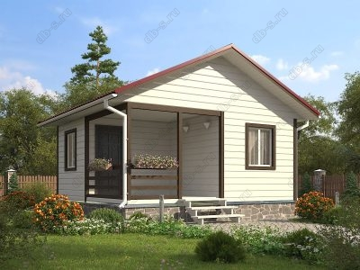 Каркасный дом 6х6 проект К50