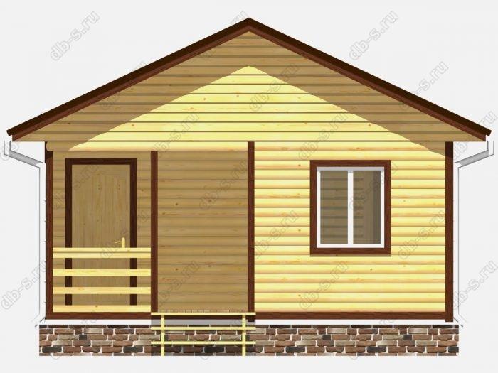 Проект дома из бруса площадью 27кв.м.