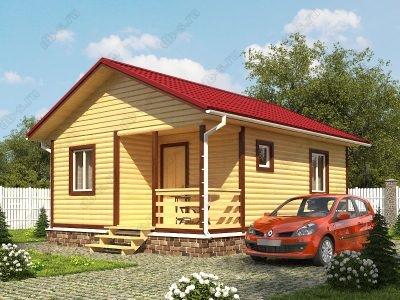 Дом из бруса 6х7,5 проект Д51