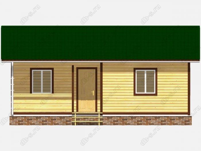 Проект дома из бруса площадью 47кв.м.