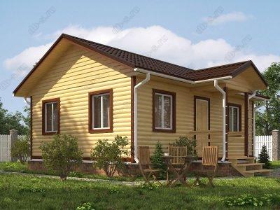 Дом из бруса 6х8 проект Д53