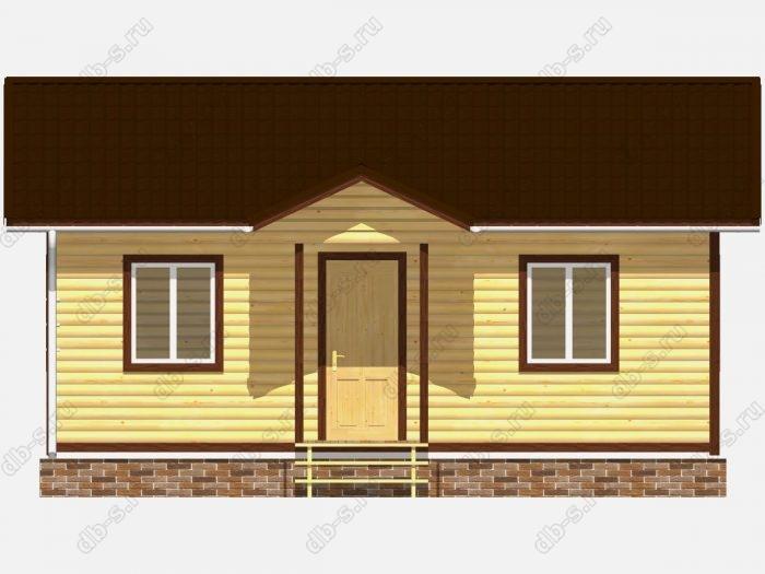 Проект дома из бруса площадью 48кв.м.