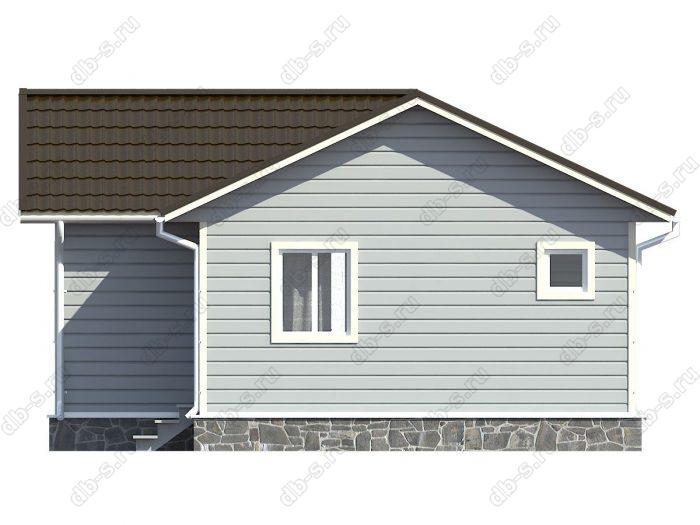 Проект каркасного дома площадью 43кв.м.