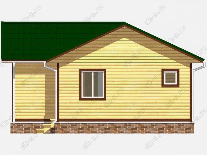 Проект дома из бруса площадью 43кв.м.