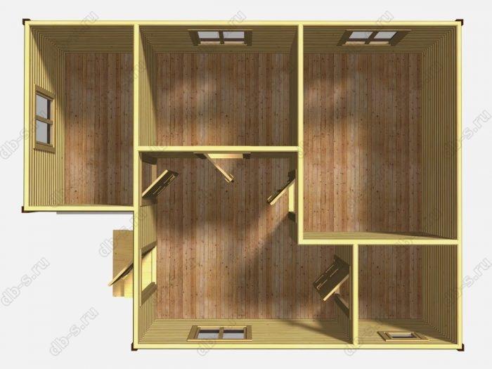 Одноэтажный деревянный дом под ключ 6 на 8