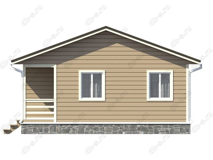 Проект каркасного дома площадью 58.5кв.м.