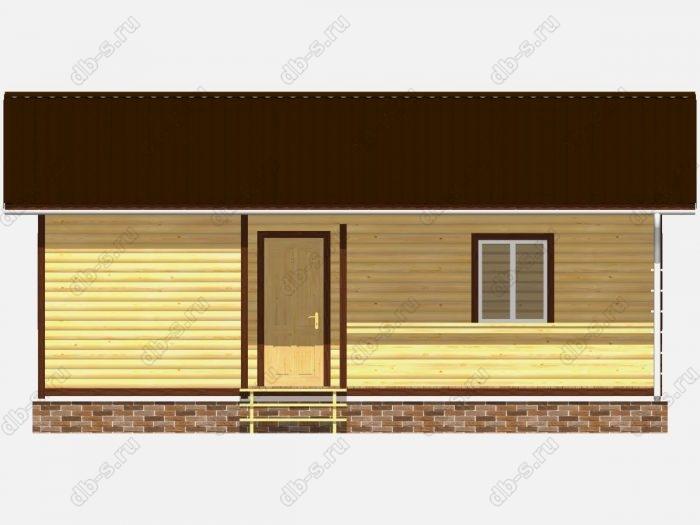 Проект дома из бруса площадью 58.5кв.м.