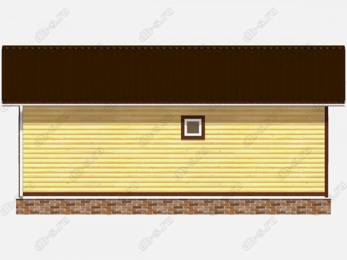 Проект коттеджа 7.5х9 из профилированного бруса