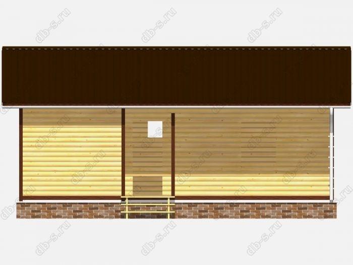 Проект сруба дома площадью 58.5кв.м.