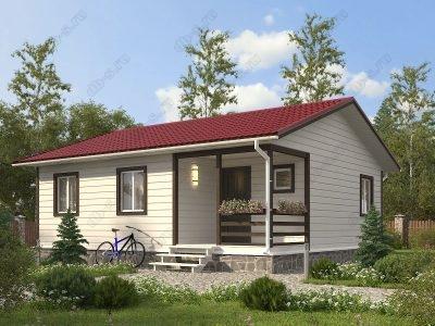 Каркасный дом 8х9 проект К57