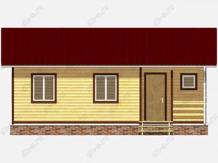 Проект дома из бруса площадью 66кв.м.