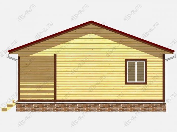 Строительство домов под ключ 8х9 из профилированного бруса