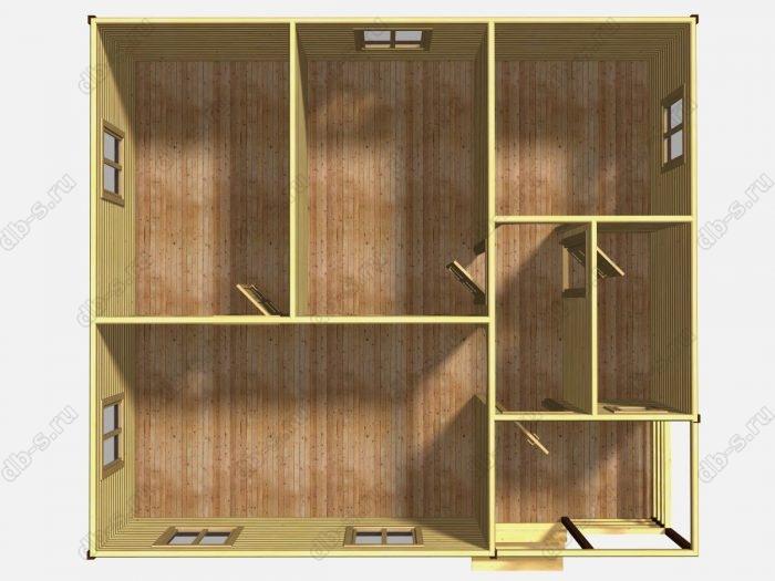Одноэтажный деревянный дом под ключ 8 на 9