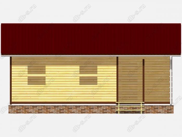 Проект сруба дома площадью 66кв.м.