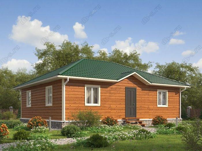 Одноэтажный проект 9 на 11 каркасный дом под ключ санузел (туалет)