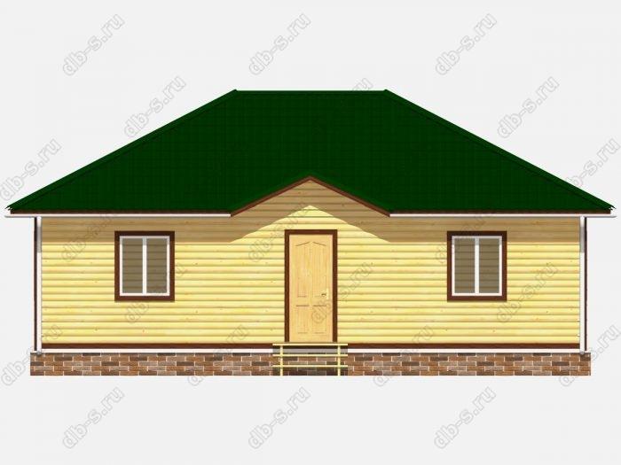 Проект дома из бруса площадью 99кв.м.