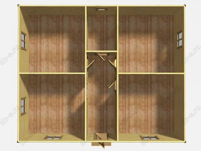 Одноэтажный деревянный дом под ключ 9 на 11