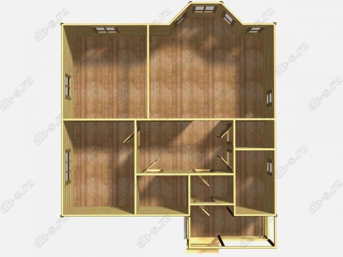 Одноэтажный деревянный дом под ключ 10 на 10