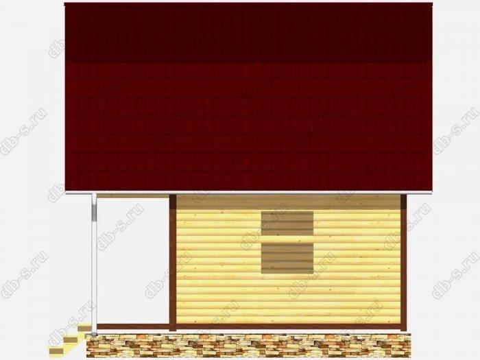 Сруб дома 6х6 терраса (веранда) балкон ломаная крыша вальмовая крыша