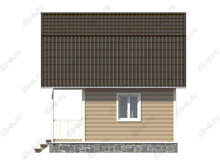 Каркасный дом 6х6 терраса (веранда) балкон ломаная крыша вальмовая крыша