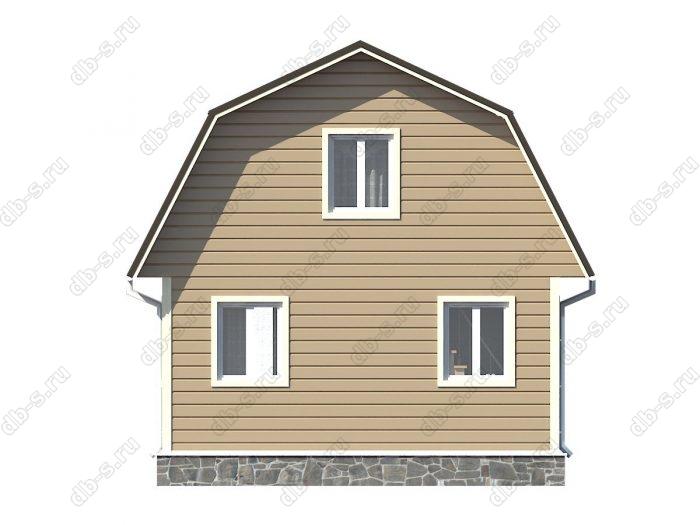 Проект каркасного дома площадью 47.25кв.м.