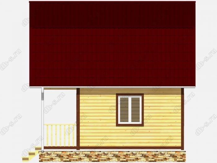 Дом из бруса 6х6 терраса (веранда) балкон ломаная крыша вальмовая крыша