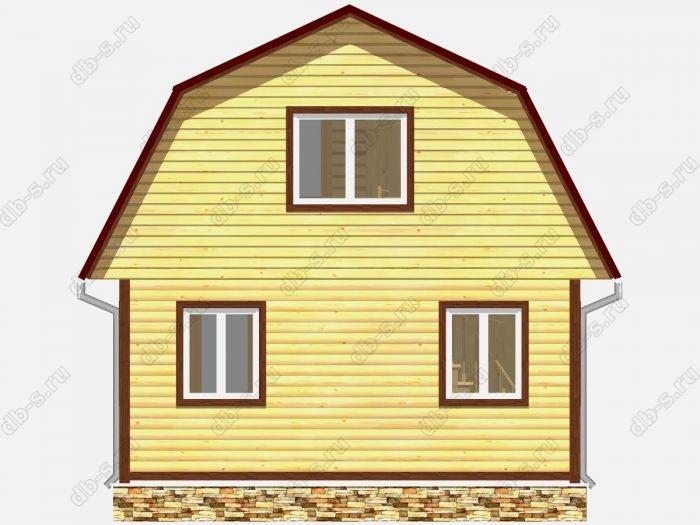 Проект дома из бруса площадью 47.25кв.м.