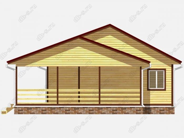 Проект дома из бруса площадью 100кв.м.