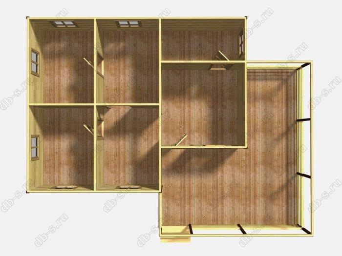 Одноэтажный деревянный дом под ключ 8 на 10
