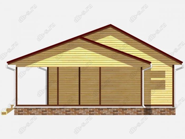 Проект сруба дома площадью 100кв.м.