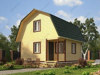 Дом из бруса 6х6 проект Д61