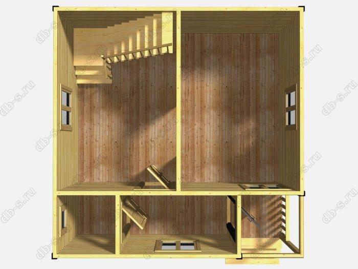 Проект дома для постоянного проживания 6 на 6