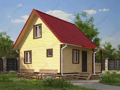 Дом из бруса 6х6 проект Д62