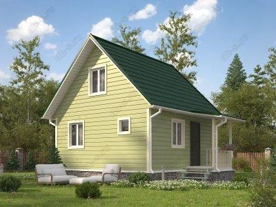Каркасный дом 6х6 проект К62