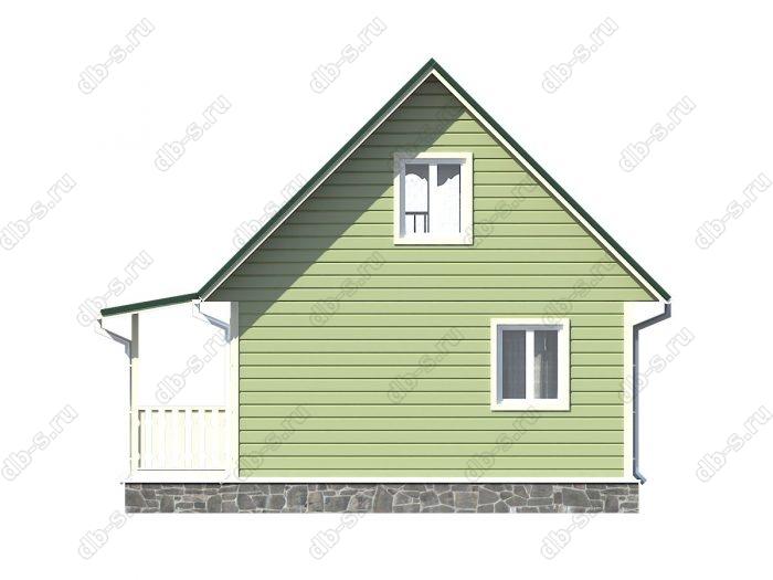 Проект каркасного дома площадью 60кв.м.