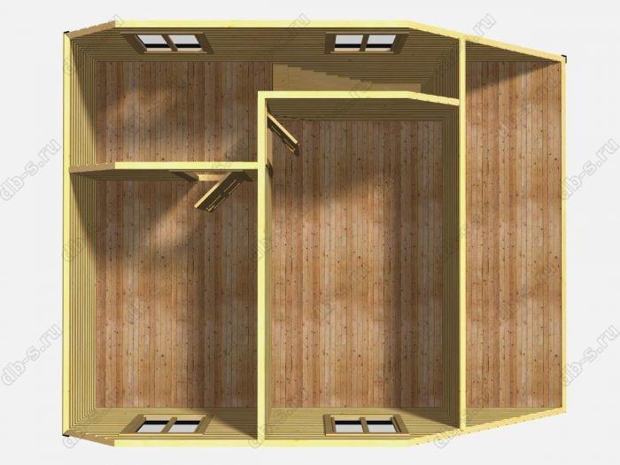 Проект каркасного коттеджа 6х8