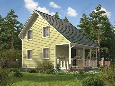 Каркасный дом 6х8 проект К64