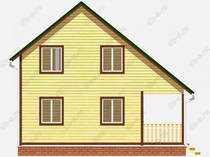 Фото деревянного дома из профилированного бруса под ключ 6 на 8
