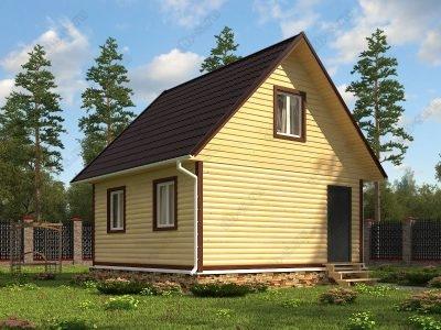 Дом из бруса 6х6 проект Д65
