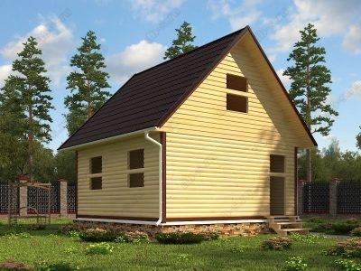 Сруб дома 6х6 проект СД65